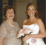 My last photo of my mum and I at my wedding just a few years before her heart attack.